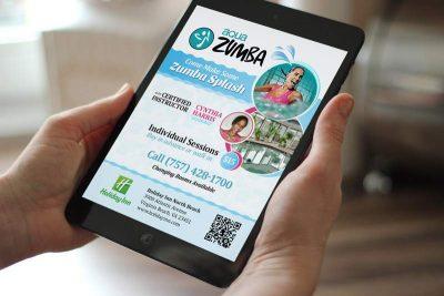Aqua Zumba flyer for the Holiday Inn - Print Design Company