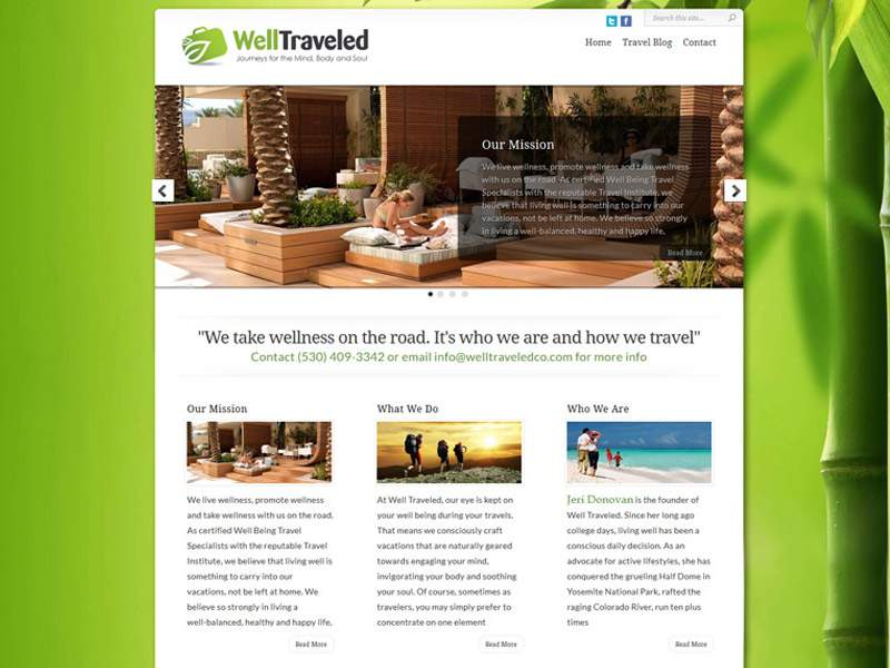 Well Traveled Web SIte