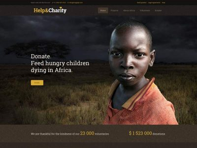 Help and Charity Demo Website