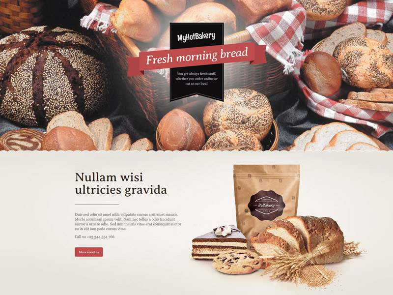 My Hot Bakery Demo Web site