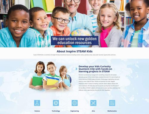 Inspire STEAM Kids Web Site