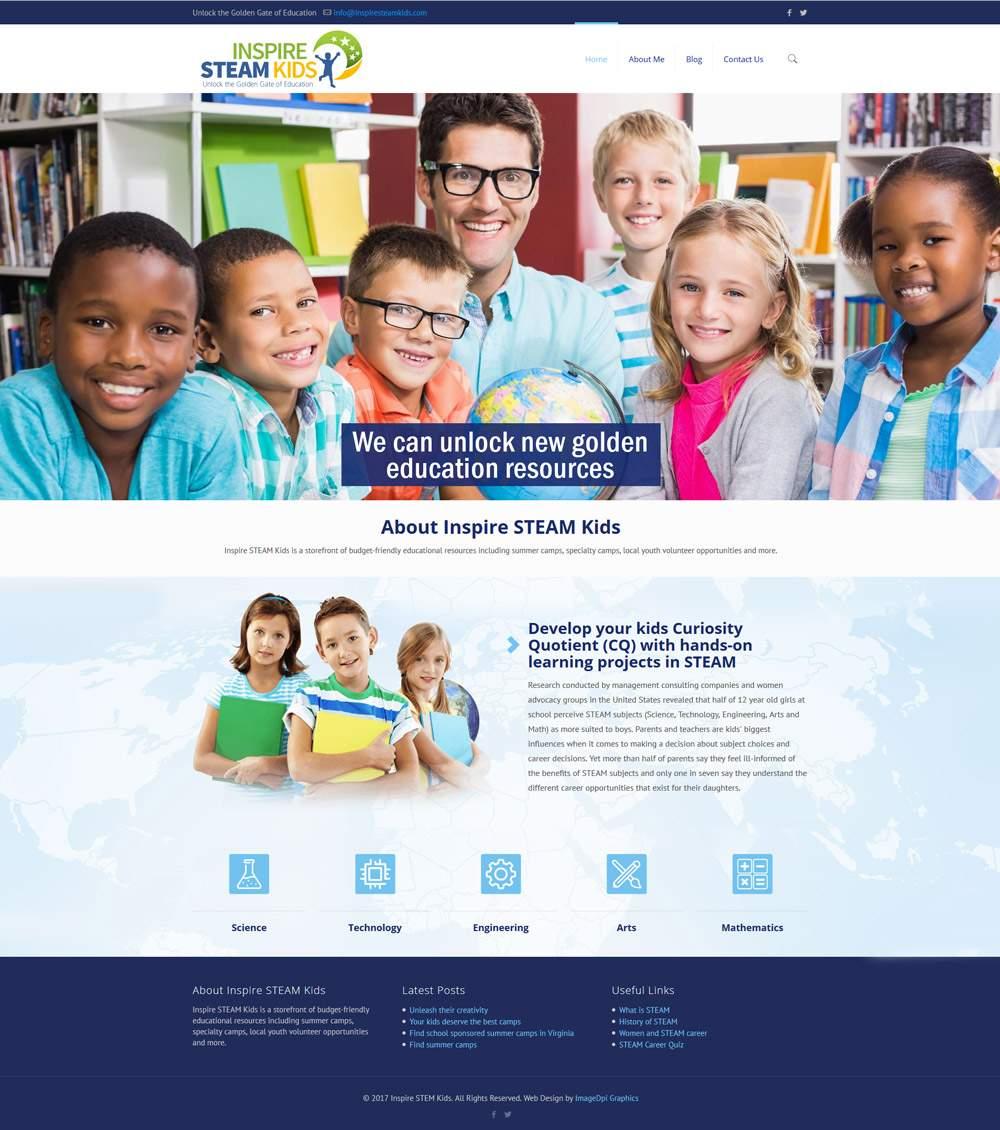Inspire STEAM Kids Website