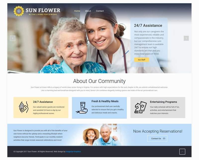 Senior Home Website